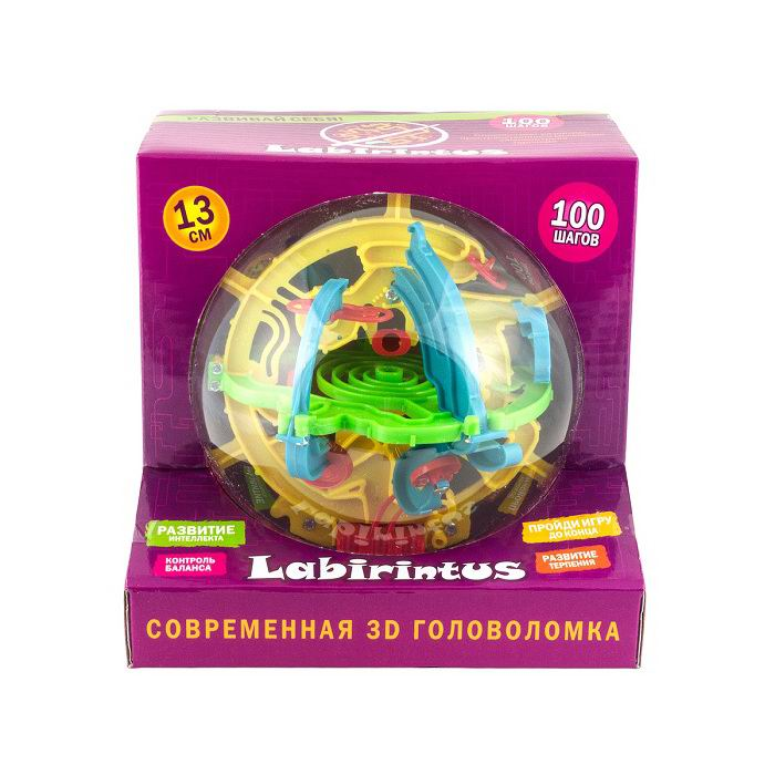 Головоломка «Лабиринтус 100 шагов» диаметр 13 см купить Минск +375447651009