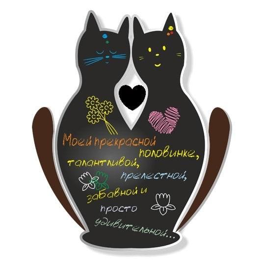 Магнитная доска на холодильник «Влюбленные котики» купить в Минске на Podaro4ek.by +375447651009