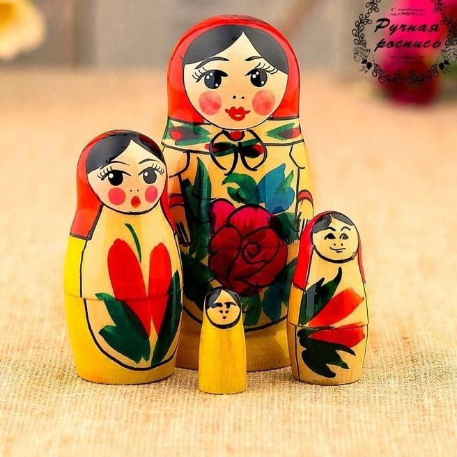 Матрешка «Машенька» 4 куклы купить в Минске +375447651009