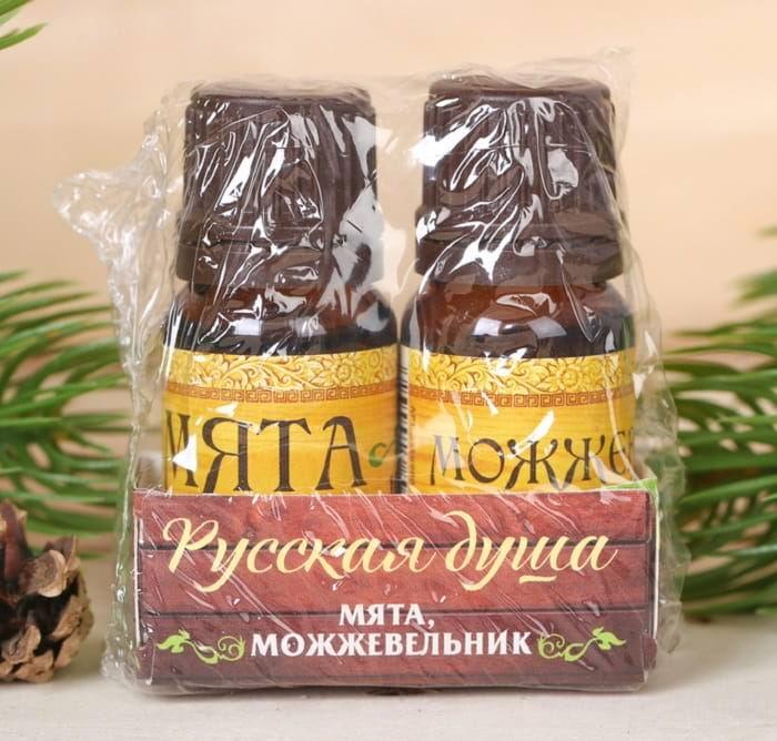 Набор аромамасел для парной «Мята+можжевельник» купить