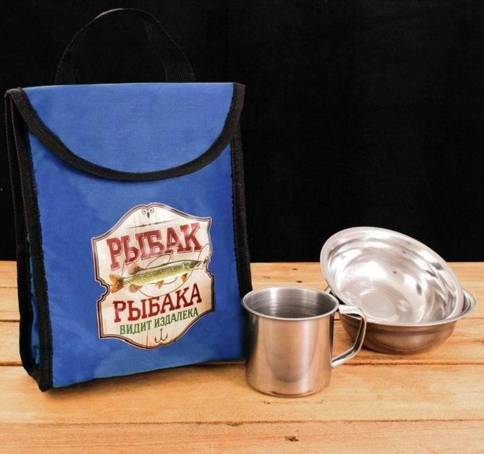 Набор для пикника с термосумкой «Рыбак рыбака видит издалека» Минск