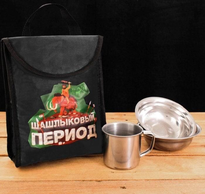 Набор для пикника с термосумкой «Шашлыковый период» купить
