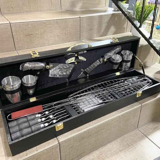 Набор для шашлыка и гриля в чемодане «Царский» Минск +375447651009