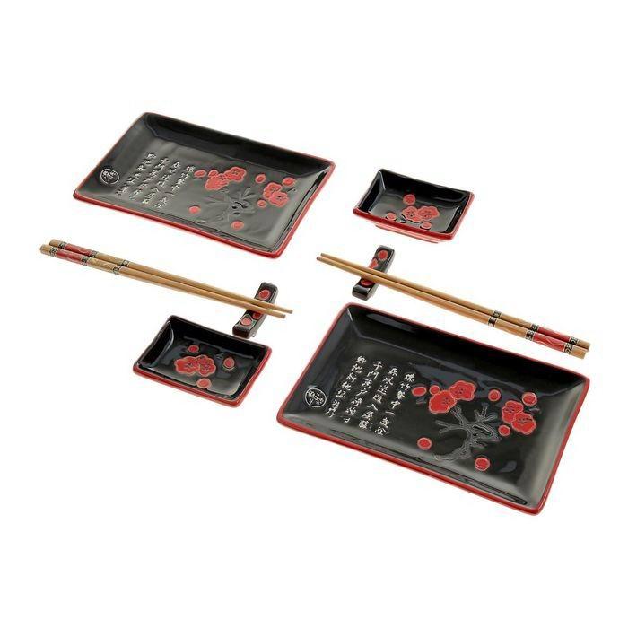 Подарочный набор для суши «Белые иероглифы» купить в Минске +375447651009