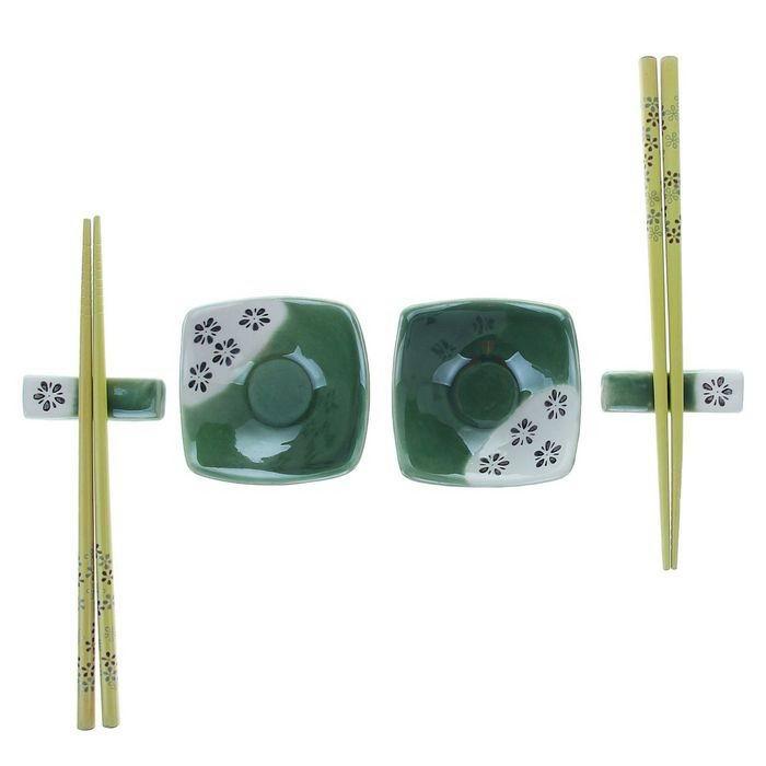 Подарочный набор для суши «Зеленый узор» 6 предметов Минск +375447651009