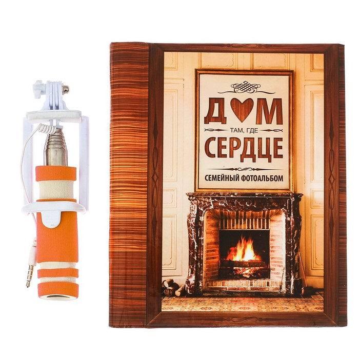 Набор: фотоальбом и селфи-палка «Семейный» купить Минск +375447651009