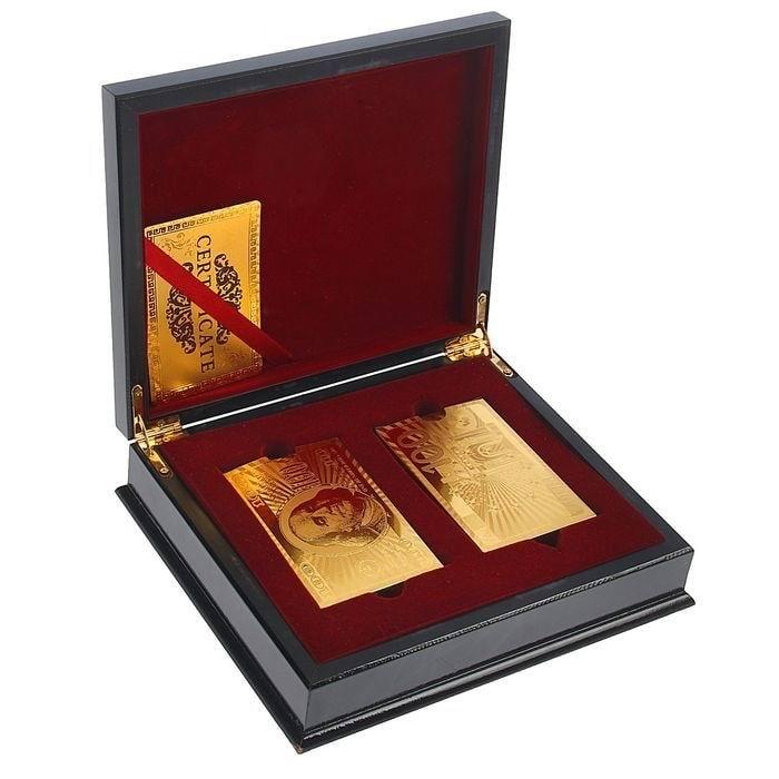 Набор игральных карт 'Gold' 2 колоды в шкатулке купить