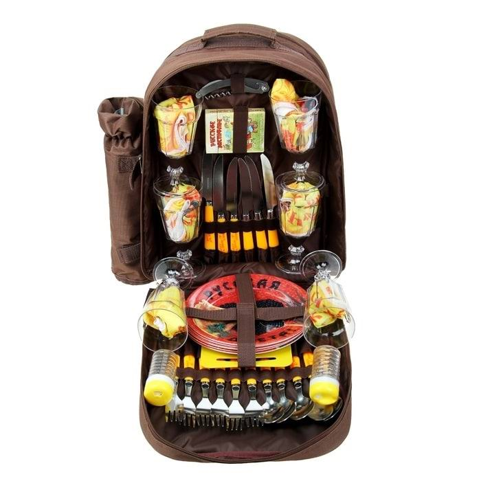 Набор-рюкзак для пикника 'Русское застолье' на 4 персоны купить