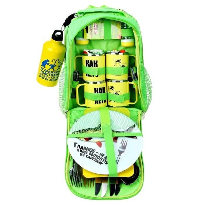 Набор-рюкзак для пикника 'Сытый турист' на 4 персоны купить