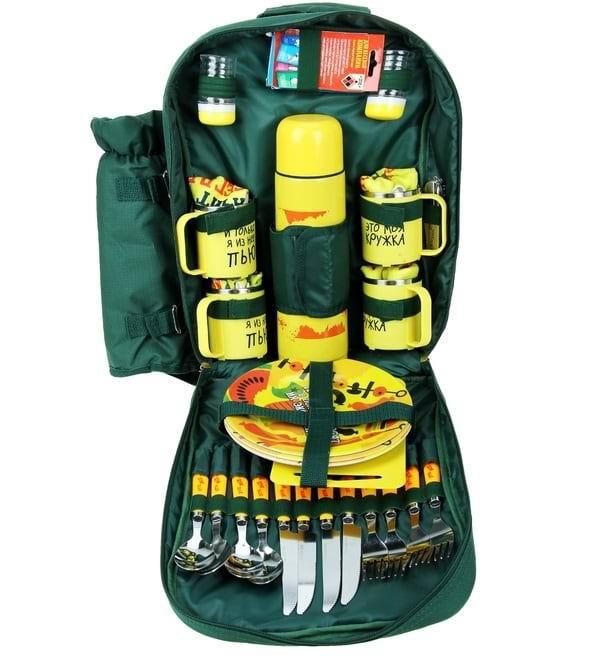 Набор-рюкзак для пикника 'Все свое ношу с собой' на 4 персоны купить