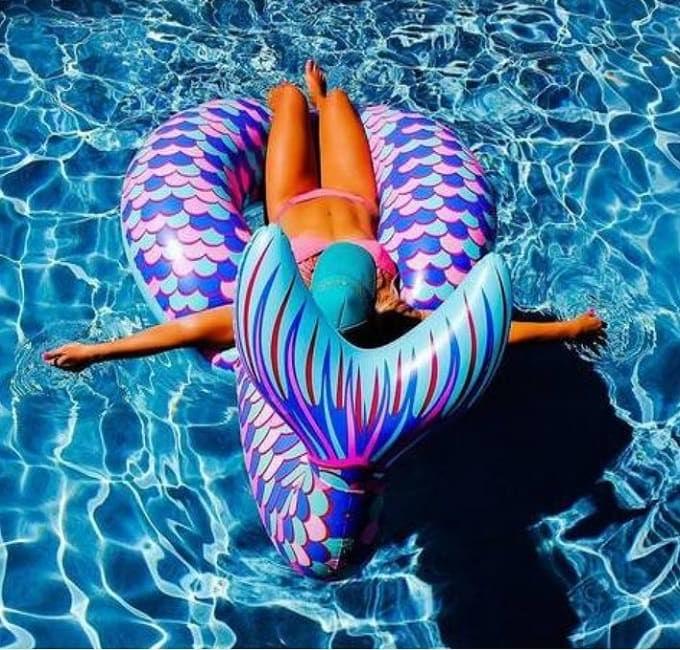 Надувной круг для бассейна «Хвост русалки» купить