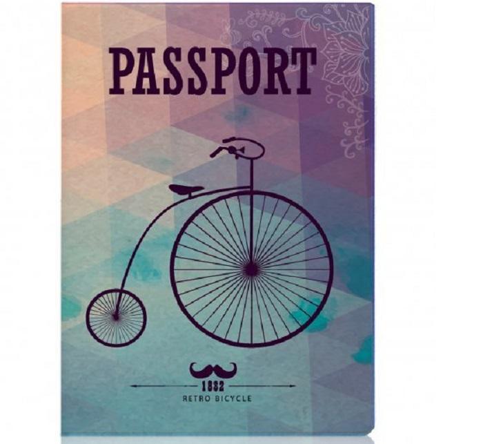Обложка для паспорта «Ретро велосипед» купить в Минске +375447651009