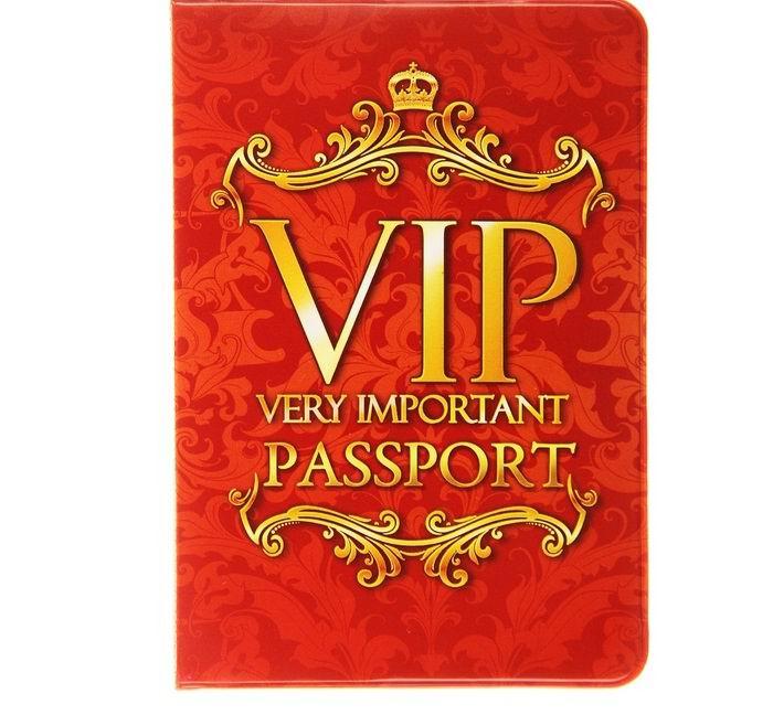Обложка для паспорта «VIP» красная купить в Минске +375447651009