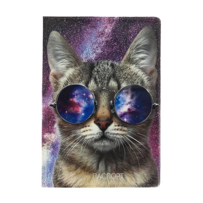 Обложка на паспорт «Крутой кот» купить Минск +375447651009