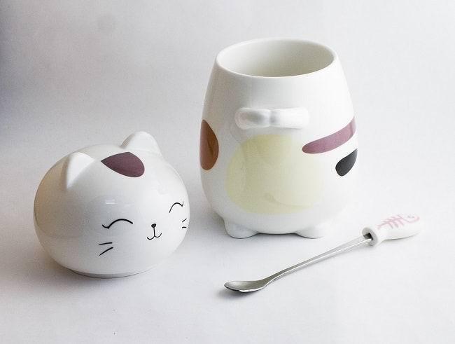 Кружка Кот с ложкой вид №2 купить