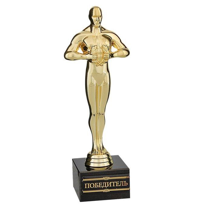 Статуэтка Оскар на камне «Победитель» 18 см. купить Минск
