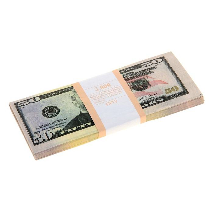 Пачка сувенирных денег 50 $