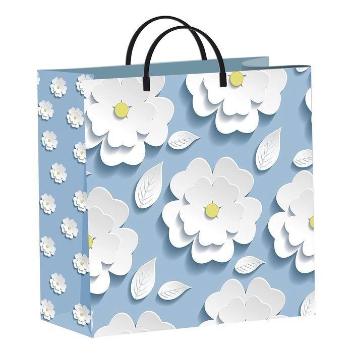 Пакет подарочный «Аппликация» цветы Минск +375447651009