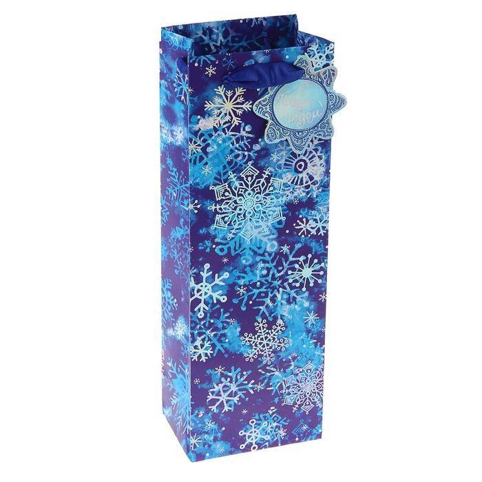 Пакет для бутылки «Снежинки» Минск +375298651009