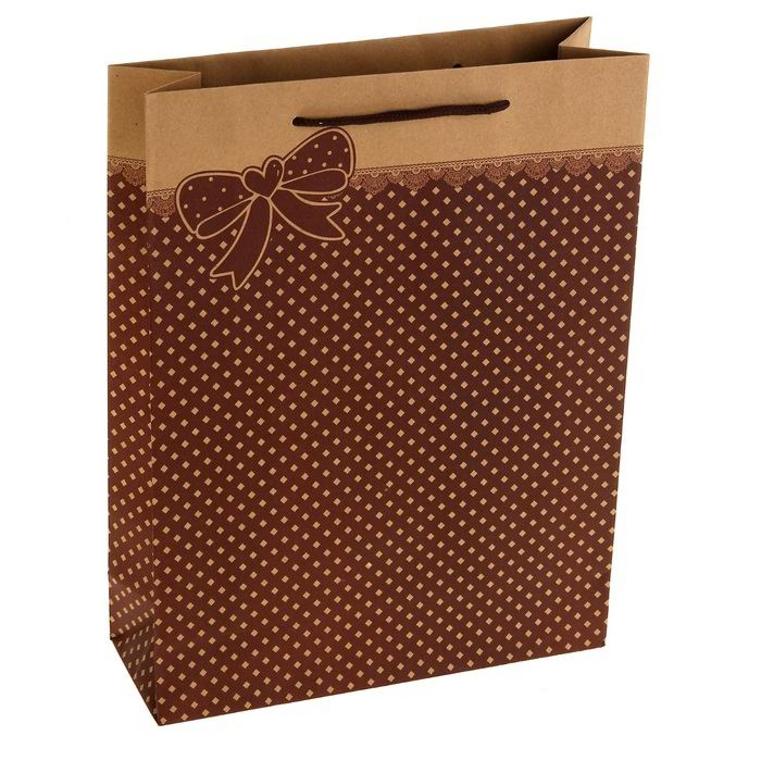 Подарочный пакет крафт «Бантик» Минск +375447651009