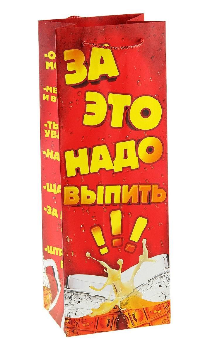 Пакет для бутылки «Повод выпить» Минск +375447651009