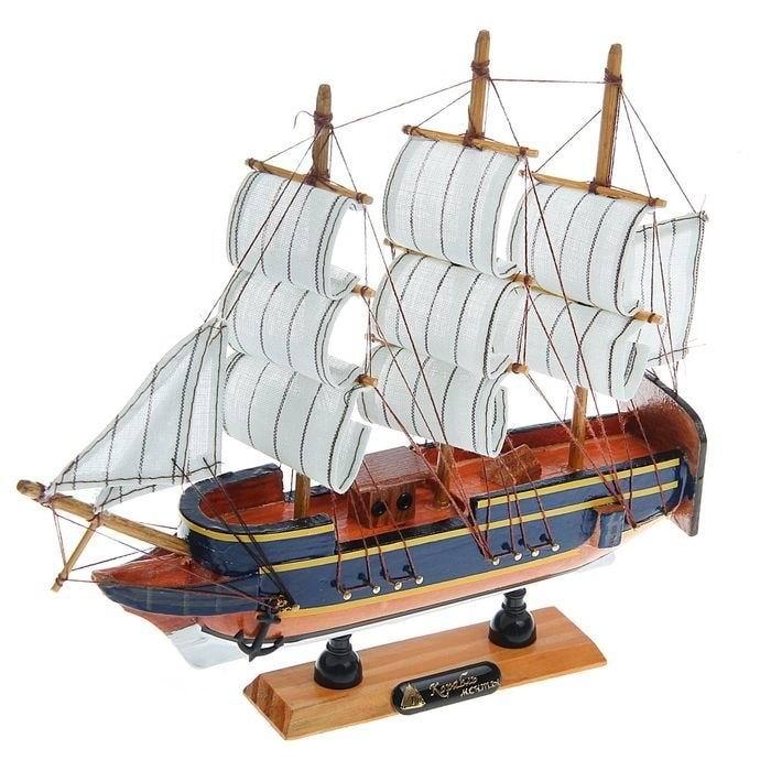 Парусник декоративный 'Корабль мечты' синие борта купить