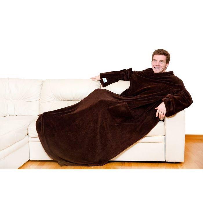 Плед с рукавами Sleepy темно- коричневый купить в Минске +375447651009
