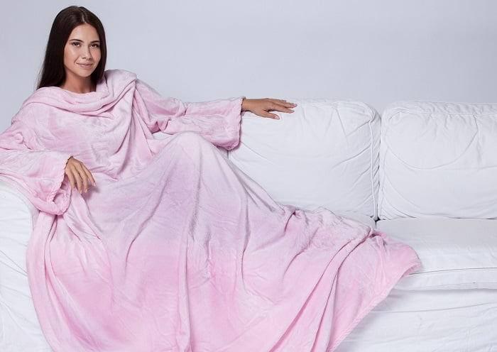 Плед с рукавами Sleepy розовый купить