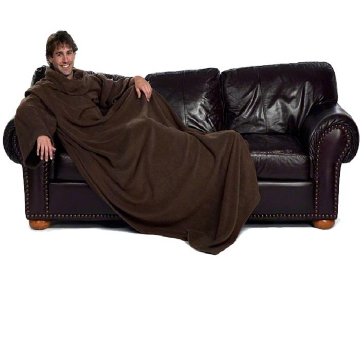Плед с рукавами SNUGGIE коричневый купить в Минске +375447651009