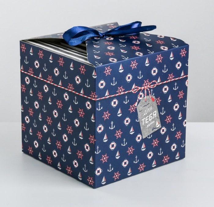 Подарочная коробка «Морская» 18 × 18 × 18 см купить в Минске +375447651009