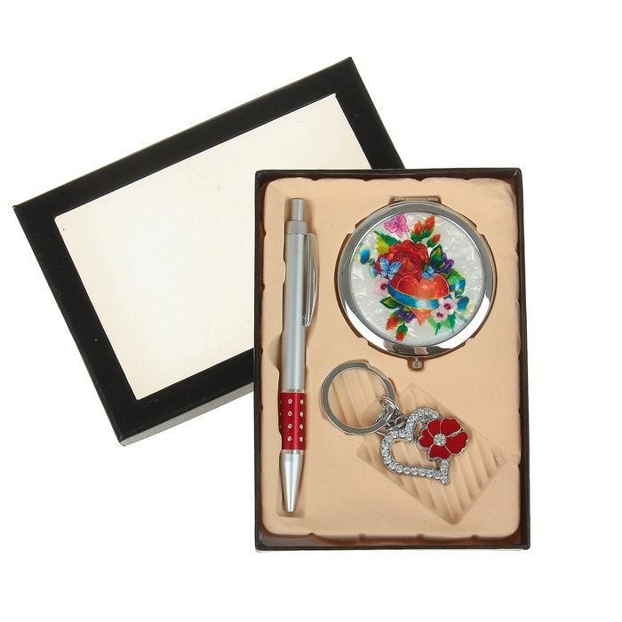Подарочный набор 3 в 1 «Цветы и сердце» Минск +375447651009