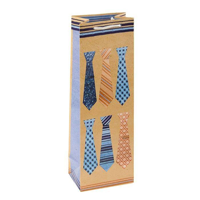 Пакет для бутылки «Галстуки» Минск +375447651009