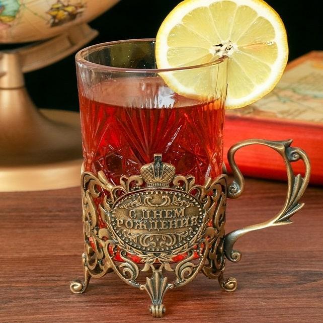 Подстаканник со стаканом «С днем рождения» купить в Минске +375447651009