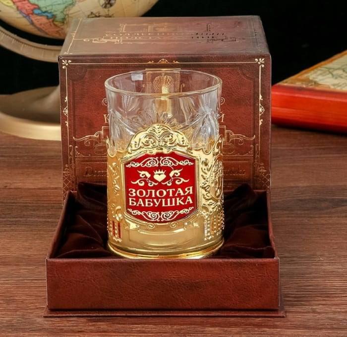 Подстаканник со стаканом 'Золотая бабушка' купить