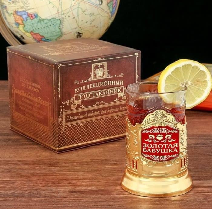 Подстаканник со стаканом «Золотая бабушка» купить Минск