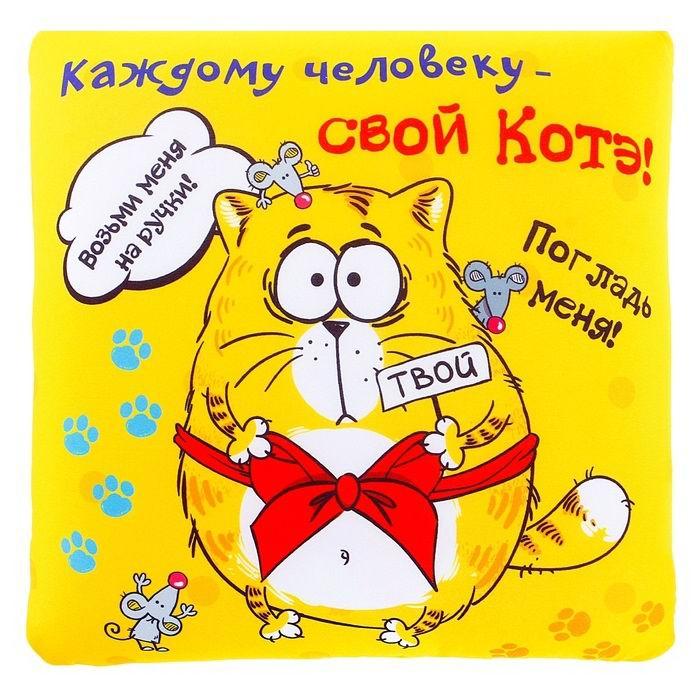 Подушка - антистресс «Каждому человеку- свой котэ!» купить Минск