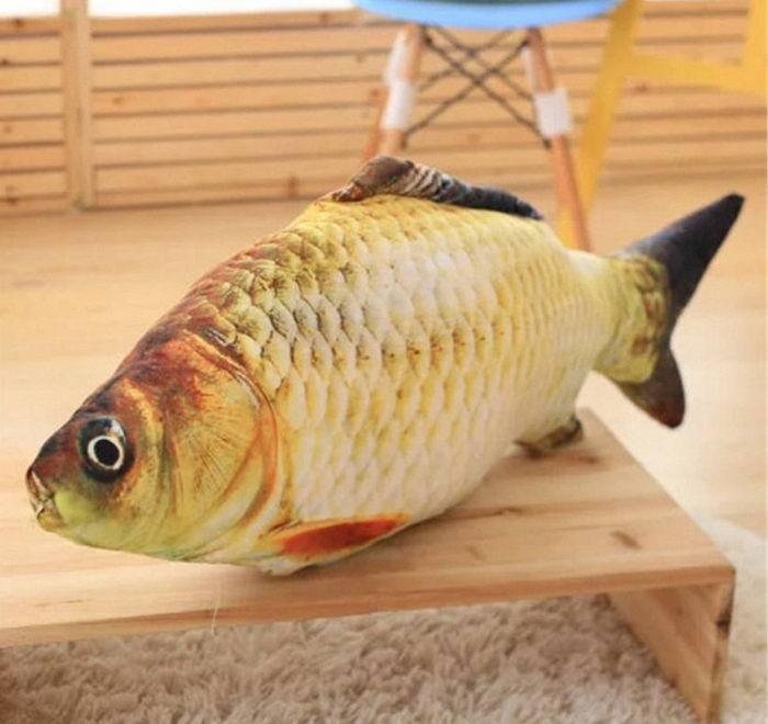 Подушка рыба «Карась» гигант 75 см. Минск