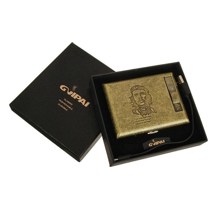 Портсигар 2 в 1 «Чегевара» с зажигалкой от USB купить в Минске +375447651009