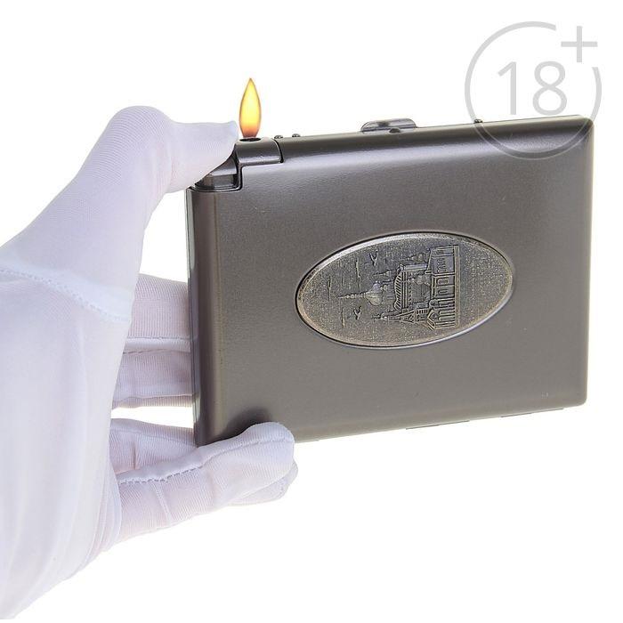 Портсигар с зажигалкой «Достопримечательности» купить в Минске +375447651009