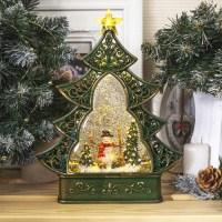 Светильник со снегом «Елочка» купить в Минске +375447651009
