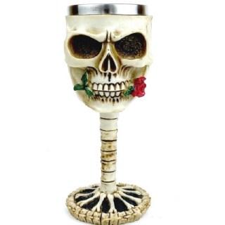 3D бокал на ножке «Череп с розой» 200 мл. купить Минск +375447651009