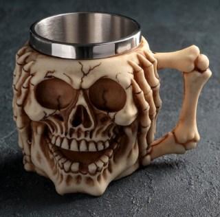3D кружка «Череп с паутиной» купить в Минске +375447651009