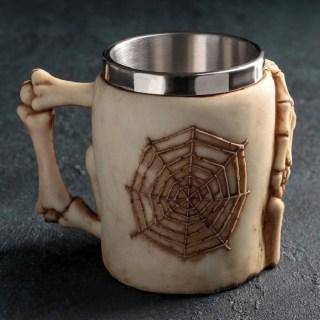 3D кружка «Черепушка с паутиной» купить в Минске +375447651009