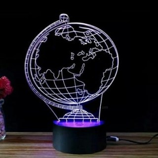 3D светильник «Глобус» от USB, 7 режимов цвета Минск