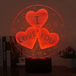 3d светильник «I love you» купить в Минске +375447651009