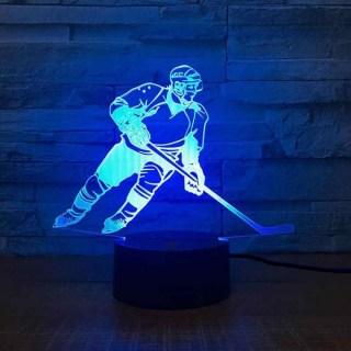 3D светильник «Хоккеист» от USB купить в Минске +375447651009