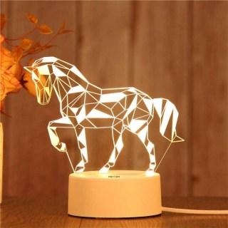 3D светильник «Конь» от USB купить в Минске +375447651009