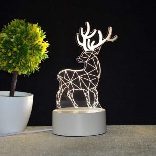 3D светильник «Олень» от USB купить в Минске +375447651009