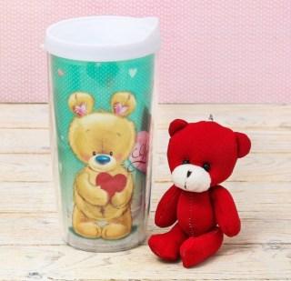 Набор:термостакан+игрушка-брелок «Я люблю тебя» купить в Минске +375447651009