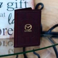 Обложка на автодокументы «Mazda» кожаная купить в Минске +375447651009
